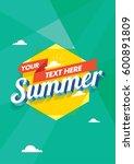 summer unit | Shutterstock . vector #600891809