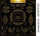 vector boho  ethnic style... | Shutterstock .eps vector #600895763
