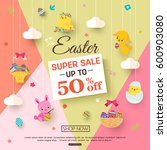 easter sale banner for kids... | Shutterstock .eps vector #600903080