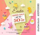 easter sale banner for kids... | Shutterstock .eps vector #600903080