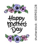 happy mothers day card with... | Shutterstock .eps vector #600903128