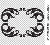 vintage baroque ornament retro... | Shutterstock .eps vector #600903800
