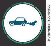 car smoke icon vector. flat... | Shutterstock .eps vector #600904520