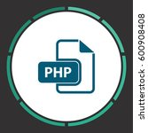 php icon vector. flat simple...