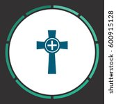 grave icon vector. flat simple... | Shutterstock .eps vector #600915128