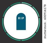 cemetery icon vector. flat...   Shutterstock .eps vector #600916178