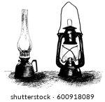 Vintage Lanterns  Hand Drawn...