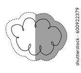 silhouette clound network... | Shutterstock .eps vector #600922379