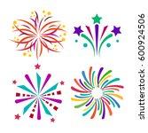 firework vector icon isolated... | Shutterstock .eps vector #600924506