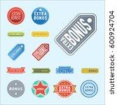 super extra bonus banners text... | Shutterstock .eps vector #600924704