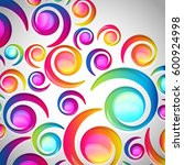 abstract colorful spiral arc... | Shutterstock . vector #600924998