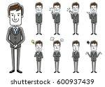 male businessman  set  variation | Shutterstock .eps vector #600937439