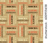 seamless pattern with text....   Shutterstock .eps vector #600955658