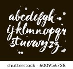 vector acrylic brush style hand ... | Shutterstock .eps vector #600956738