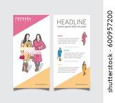 business brochure or flyer... | Shutterstock .eps vector #600957200