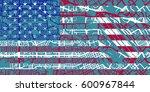 detailed vector map of santa... | Shutterstock .eps vector #600967844