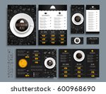 set of business cards and a4... | Shutterstock .eps vector #600968690