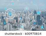 internet of things  iots  over... | Shutterstock . vector #600970814