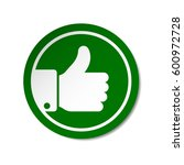 green thumb up button round... | Shutterstock .eps vector #600972728