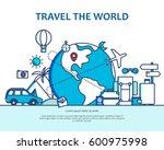 modern flat thin line... | Shutterstock .eps vector #600975998