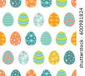 easter seamless pattern with... | Shutterstock .eps vector #600981824