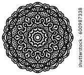 mandala for painting. vector... | Shutterstock .eps vector #600987338