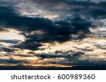 colorful dramatic sky with... | Shutterstock . vector #600989360