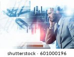 he needs winning strategy .... | Shutterstock . vector #601000196
