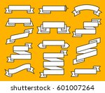 vector ribbon flat line set....   Shutterstock .eps vector #601007264