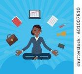 vector african business woman...   Shutterstock .eps vector #601007810