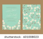 wedding invitation. floral... | Shutterstock .eps vector #601008023