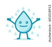 cute water drop character... | Shutterstock .eps vector #601018913