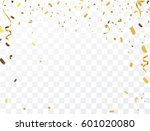 gold confetti celebration | Shutterstock .eps vector #601020080