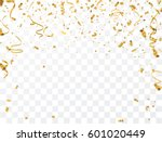 gold confetti celebration. | Shutterstock .eps vector #601020449