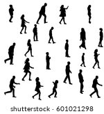 isolated silhouette people... | Shutterstock .eps vector #601021298