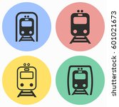 metro vector icons set.... | Shutterstock .eps vector #601021673