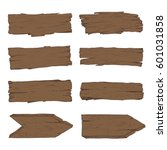 big set of old wood planks.... | Shutterstock .eps vector #601031858