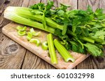 Bunch of fresh celery stalk...
