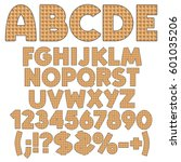 alphabet  numbers and signs... | Shutterstock .eps vector #601035206