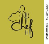 chef vector symbol with 'chef'... | Shutterstock .eps vector #601040330