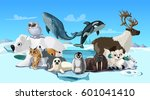 arctic animals cartoon template ...