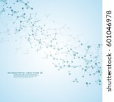 molecule dna and neurons vector....   Shutterstock .eps vector #601046978