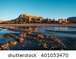 village of ait ben haddou at... | Shutterstock . vector #601053470