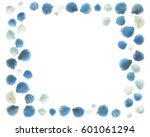 blue and white shells on the... | Shutterstock . vector #601061294