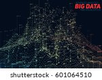 vector abstract 3d big data... | Shutterstock .eps vector #601064510