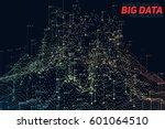 vector abstract 3d big data... | Shutterstock .eps vector #601064510