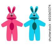 romper suit. rompers with ears. ...   Shutterstock . vector #601065374