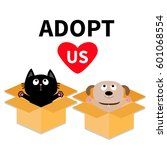 adopt us. dont buy. dog cat... | Shutterstock .eps vector #601068554