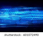 high speed abstract technology... | Shutterstock .eps vector #601072490