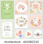 vector happy easter templates... | Shutterstock .eps vector #601082210